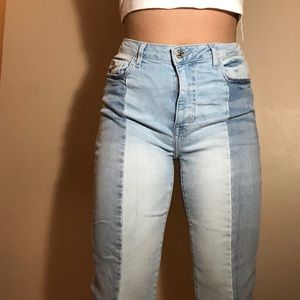 Two-paneled jeans